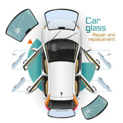 Auto glass diagram