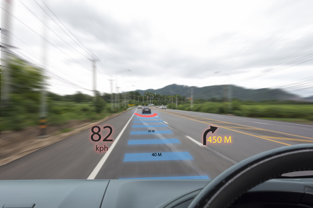 Windshield heads up display concept